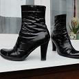 Отдается в дар Демисезонные кожа ботинки 37 размер, каблук