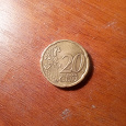 Отдается в дар Монетка — 20 евроцентов, 2002 год