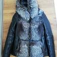 Отдается в дар Зимняя кожаная куртка. 40-42р. Требует ремонта