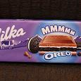Отдается в дар Гигантская плитка молочного шоколада Milka Oreo