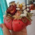 Отдается в дар тыква из гипса с сухоцветами