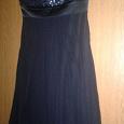 Отдается в дар Вечернее коктельное платье приятного темно-синего цвета, размер 42-44.