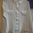 Отдается в дар Блузка-рубашка белая р.46(прибл)