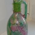 Отдается в дар Бутылка «Колибри в цветах» в технике декупаж, моя работа