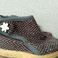 Отдается в дар Текстильные ботиночки для девочки