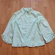 Отдается в дар Мятная блузка-рубашка, 44