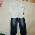 Отдается в дар Кофта и джинсы на девочку (80-86см)