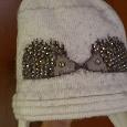 Отдается в дар Милая теплая шапка с ёжиками до 18 месяцев