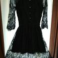 Отдается в дар Платье черное кружевное размер 42-44
