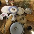 Отдается в дар Посуд тарілки досточка кришки банки ложка