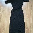 Отдается в дар Платье чёрное в пол. Размер 44
