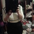 Отдается в дар Платье черное с белым р 42