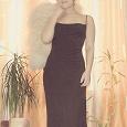 Отдается в дар Длинное кофейное платье 44 размер