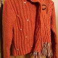 Отдается в дар Очень теплый рыжий шерстяной свитер