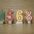 Отдается в дар Свеча-цифра на торт