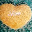 Отдается в дар Подушка-сердце желтая