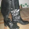 Отдается в дар кожаные сапоги зима 39 размер