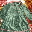 Отдается в дар Бархатное платье для девочки 6-7 лет