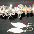 Отдается в дар серебряные колечки-сережки