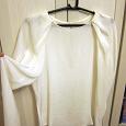 Отдается в дар Белая шелковая блуза ZARA