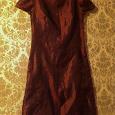 Отдается в дар Бордовое платье 42