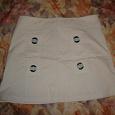 Отдается в дар Белая джинсовая юбка.