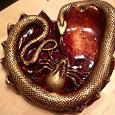 Отдается в дар Пепельница со змеей и пауком