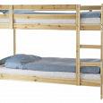 Отдается в дар Кровать двухъярусная IKEA деревянная