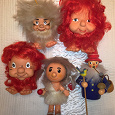 Отдается в дар ГДР-овские игрушки: Ева и четыре гнома