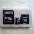 Отдается в дар Карта памяти MicroSD (2Gb,Transcend) + 2адаптера Kingston