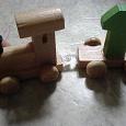 Отдается в дар Игрушка деревянная «Паровоз»