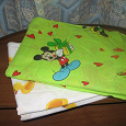 Отдается в дар 2 комплекта детского пастельного белья