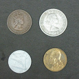 Отдается в дар Четыре монетки для настоящих нумизматов!!!