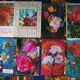 Отдается в дар советские открытки (подписанные)