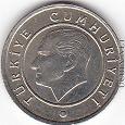 Отдается в дар Монета Турции — 25 курушей, новая — 2 фото