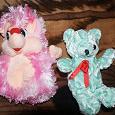 Отдается в дар Мягкие игрушки Ежик и мишка на реставрацию