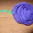Отдается в дар Сумка тряпочная складная роза фиолетовая