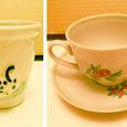 Отдается в дар Керамический стаканчик и детская чашечка
