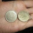 Отдается в дар Две турецкие монеты.