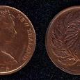 Отдается в дар Новая Зеландия. 1 цент 1975 года.