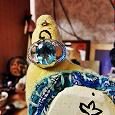 Отдается в дар Серебряное кольцо с топазом.