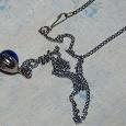 Отдается в дар Кулон синий с цепочкой
