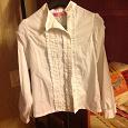 Отдается в дар Белые школьные блузка и водолазка 140 рост