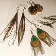 Отдается в дар серьги перья павлинки