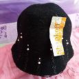 Отдается в дар Черная шляпка, весенняя, фирмы«Shapkoff».