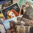 Отдается в дар Открытки подписанные. Тема «Девушки на открытках»