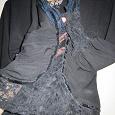 Отдается в дар Черная, нарядная блузка с кружевами 40- 42 р-р
