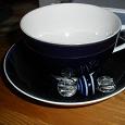 Отдается в дар чашка темно-синяя