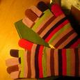 Отдается в дар Женские теплые вязанные перчатки
