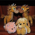 Отдается в дар Мягкие игрушки: жирафы, свинка, собачка